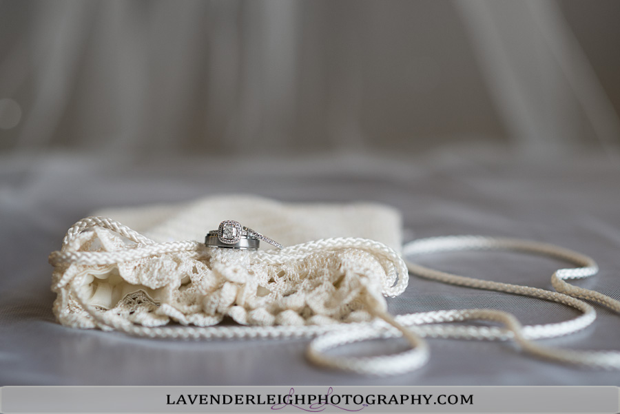 Wedding Day Details: Ring and Purse | Lavender Leigh Photography