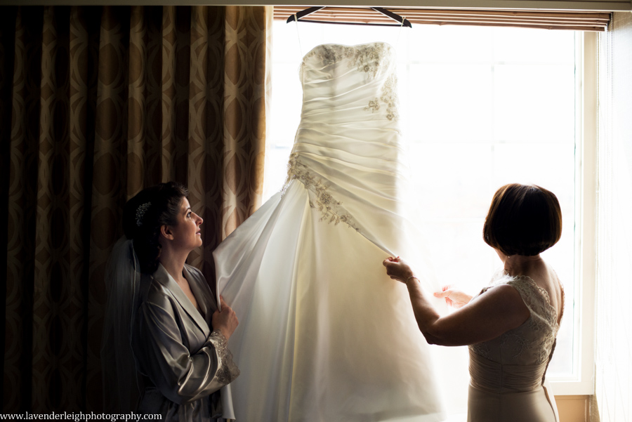 Montour Country Club Wedding  Getting Ready Wedding Images   Bride Putting Dress On   Pittsburgh Wedding Photographer   Pittsburgh Wedding Photographers   Lavender Leigh Photography   Blog