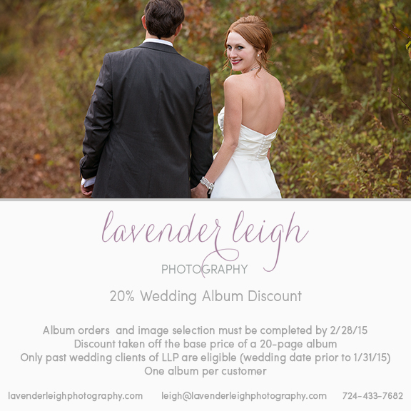 Wedding Album Discount | Pittsburgh Wedding Photographer | Pittsburgh Wedding Photographers | Pittsburgh Engagement Photographer | Pittsburgh Portrait Photographer | Lavender Leigh Photography | Blog
