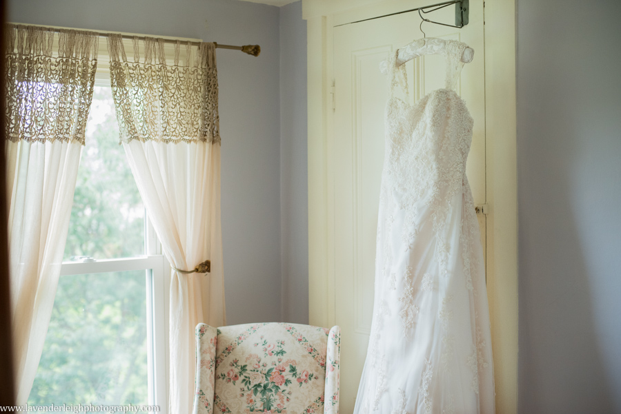 Maggie Sottero | Lace Wedding Dress | Ivory| Lingrow Farms | Barn Wedding | Farmhouse Getting Ready Pictures |  Pittsburgh Wedding Photographer | Pittsburgh Wedding Photographers | Lavender Leigh Photography | Blog