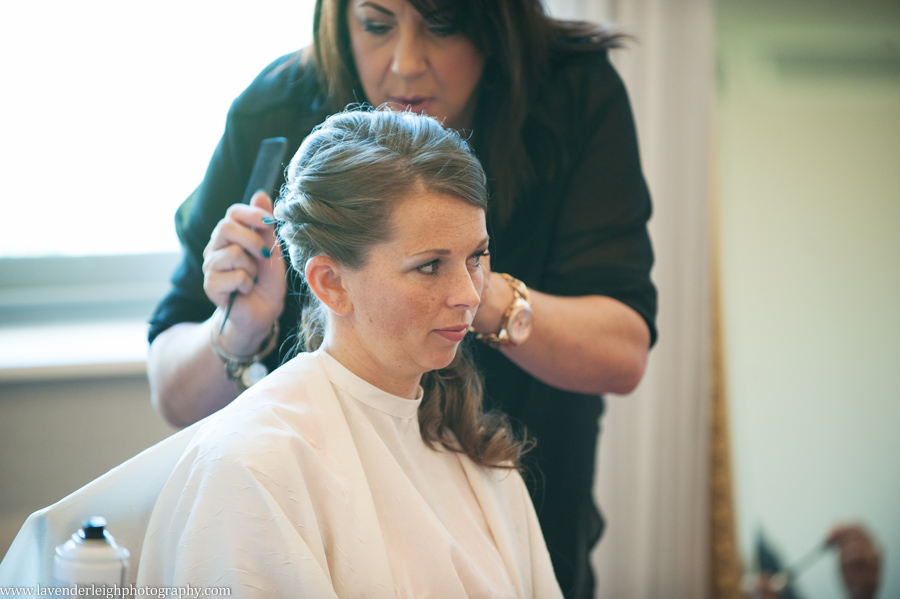 Bride Having Hair Done | Getting Ready | Renaissance Hotel  | Oakmont Country Club Wedding | Getting Ready Pictures |  Pittsburgh Wedding Photographer | Pittsburgh Wedding Photographers | Lavender Leigh Photography | Blog