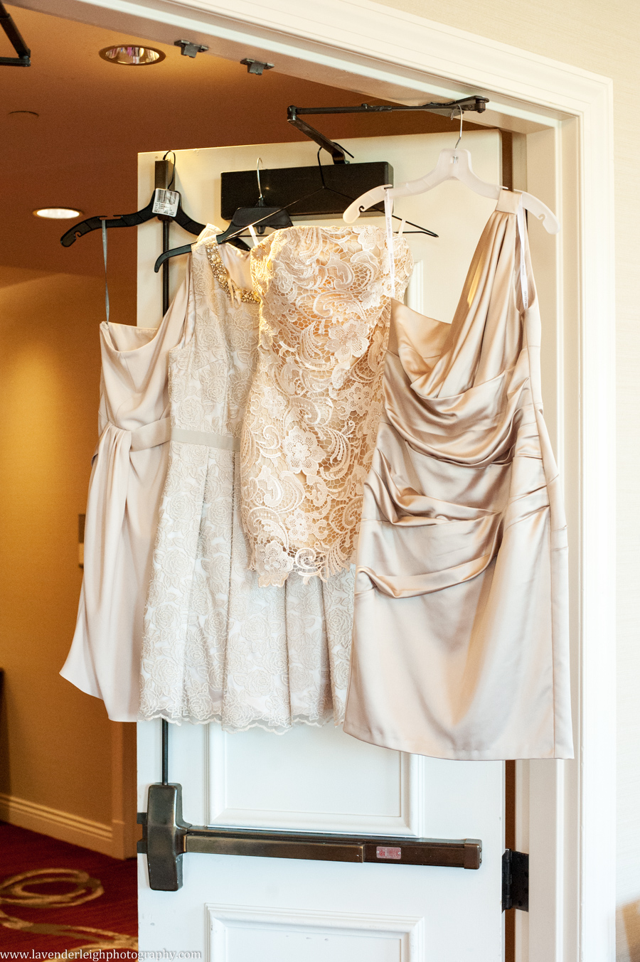 Bridesmaid Dresses Hanging | Getting Ready | Renaissance Hotel | Oakmont Country Club Wedding | Getting Ready Pictures |  Pittsburgh Wedding Photographer | Pittsburgh Wedding Photographers | Lavender Leigh Photography | Blog