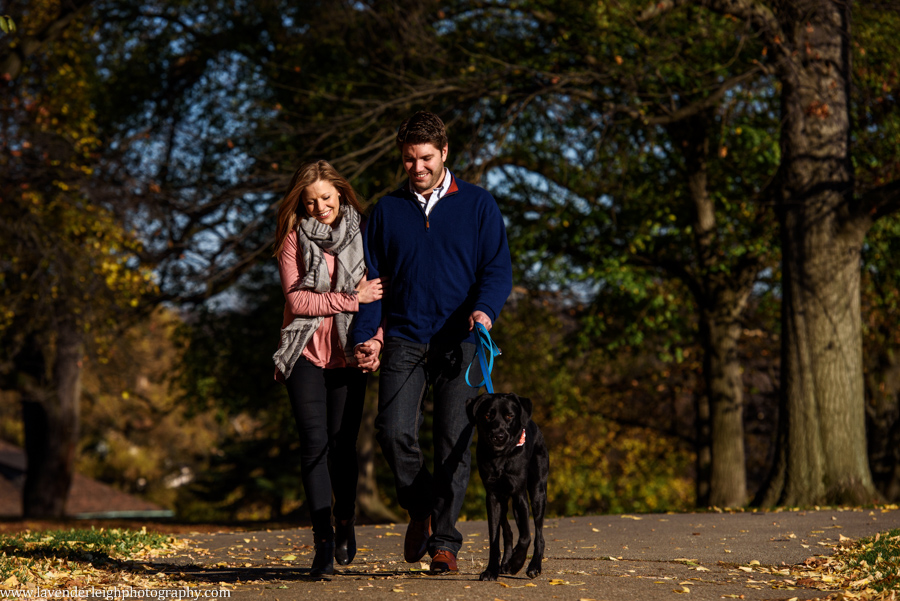 Pittsburgh, Mellon Park, Engagement Session, Fall, Autumn, Engagement Photos, Dog, Sunset, Wedding Photographer, Lavender Leigh Photography, Blog