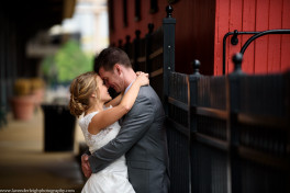 red train, city, station square, Pittsburgh, bride, groom, Lavender Leigh Photography