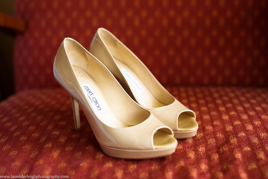 Jimmy Choo Beige Peep Toe Shoes