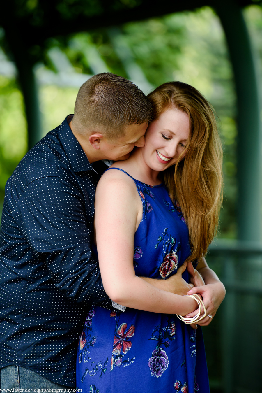 An engagement photography session on the West End Overlook in Pittsburgh, PA.