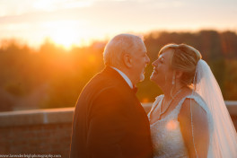 Bride and Groom at Sunset, The Club at Nevillewood Wedding Photographer, Lavender Leigh Photography