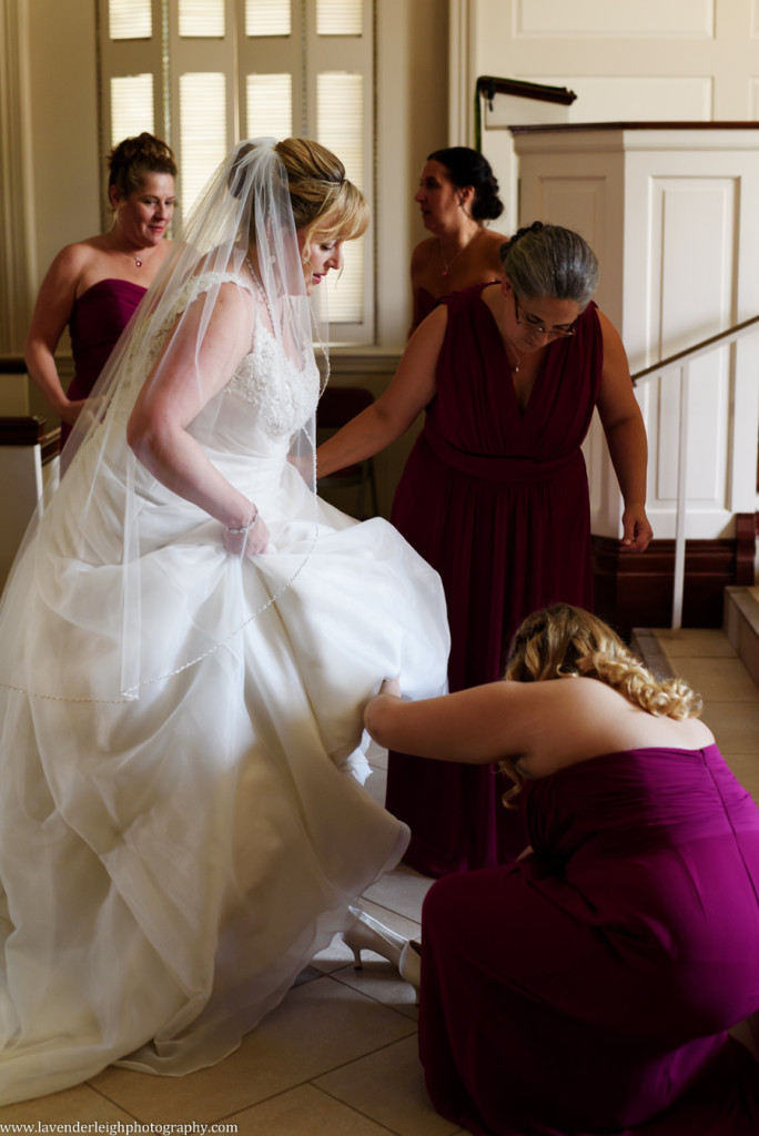 Bride Putting on Shoes, The Club at Nevillewood Wedding Photographer, Lavender Leigh Photography