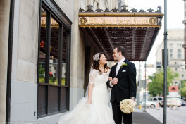 Bride and Groom at the Omni William Penn in Pittsburgh, Pennsylvania