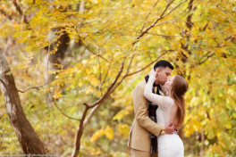 Bride and groom in frick park, Point Breezeway, Lavender Leigh Photography, wedding, engagement, boudoir photographer in Pittsburgh, Pennsylvania, fall, autumn