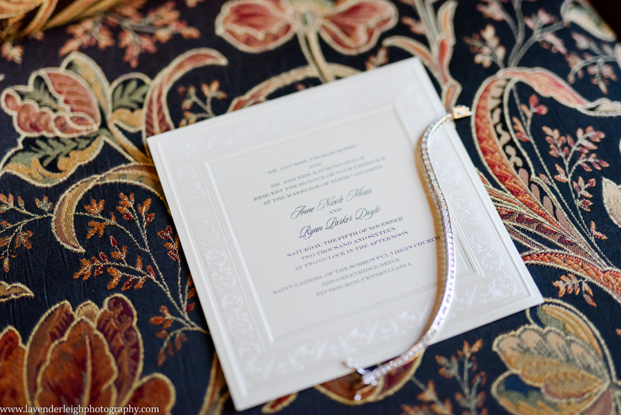 Classic White Wedding Invitation, lavender leigh photography, pittsburgh photographer, pennsylvania