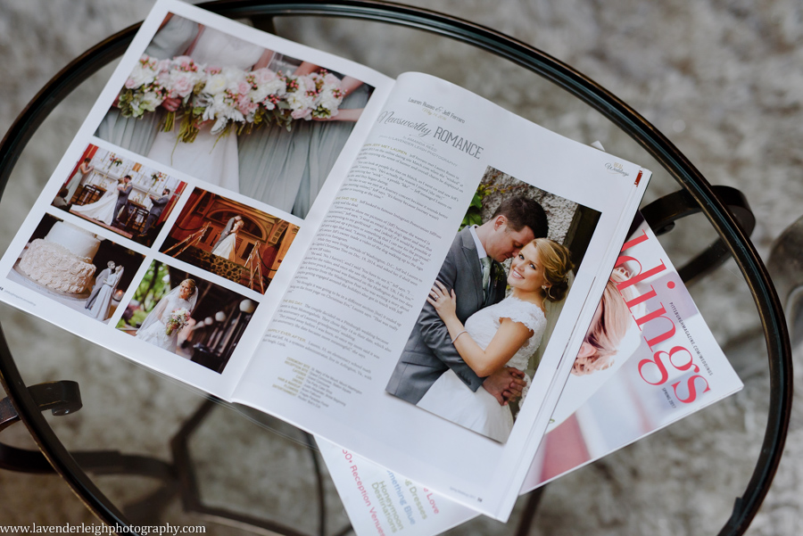 Pittsburgh Wedding Magazine Lavender Leigh Photography, magazine, spring 2017 issue, pennsylvania