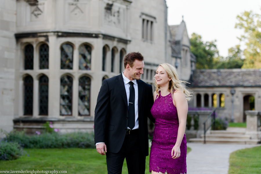 a fall engagement session at Hartwood Acres in Pittsburgh Pennsylvania