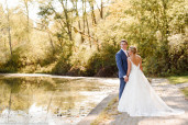 Bride and Groom at Twin Lakes Park in Greensburg, Pennsylvania