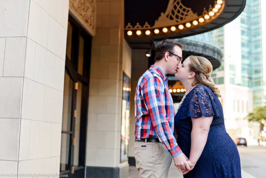 An engagement session during the fall in the city of Pittsburgh, Pennsylvania.